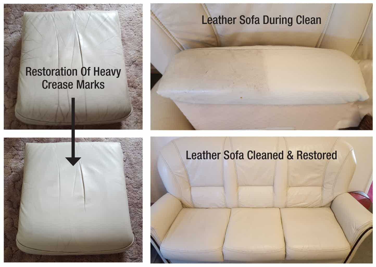 An example of a sofa cleaned at a home in Lichfield